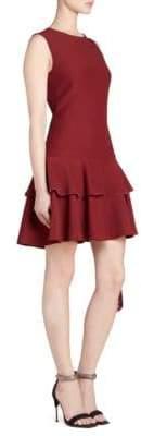 Alexander McQueen Fringe Peplum Dress
