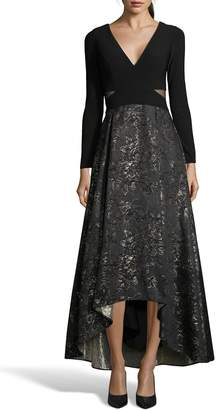 Xscape Evenings Brocade High/Low Ballgown