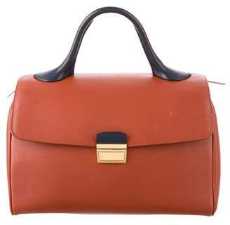 Celine Leather Top Handle Bag