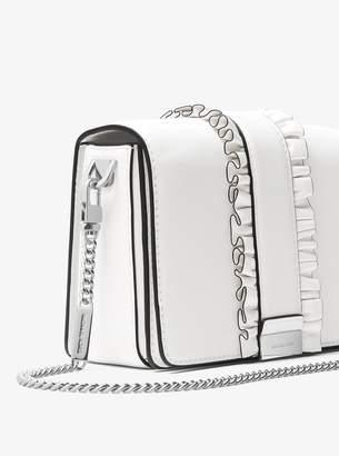 MICHAEL Michael Kors Jade Ruffled Leather Clutch