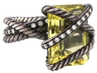 David Yurman Quartz & Diamond Wrapped Ring