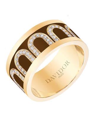L'Arc de Davidor 18k Gold Arcade Diamond Ring - Grand Model, Cognac, Sz. 6.5