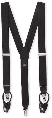 Trafalgar Black Paisley Convertible Suspenders