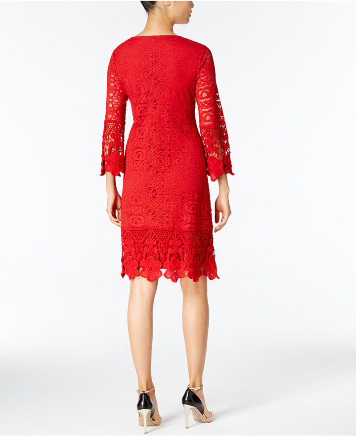 Alfani Crochet-Trim Illusion Dress, Only at Macy's 4