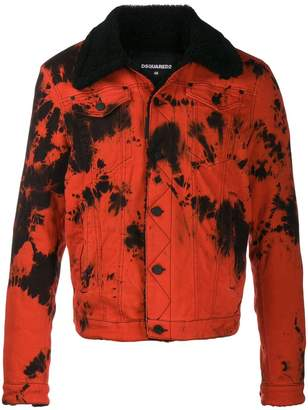 DSQUARED2 tie dye denim jacket