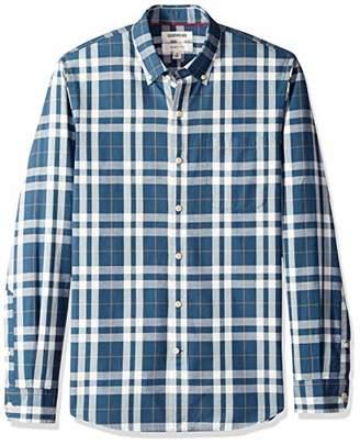 Goodthreads Men's Slim-Fit Long-Sleeve Pattern Chambray Shirt