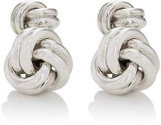 Barneys New York Men's Sterling Silver Double-Sided Knot Cufflinks - Silver