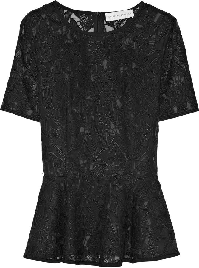 Stella McCartney Guipure-lace blouse