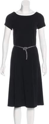 Blumarine Embellished A-Line Dress