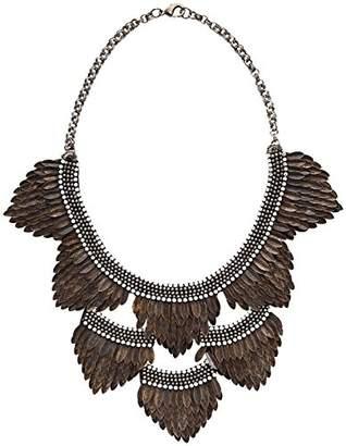Deepa Gurnani Feather Bib Necklace -
