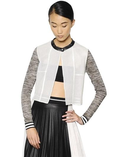 Aviu Nappa Leather & Viscose Mouline Jacket