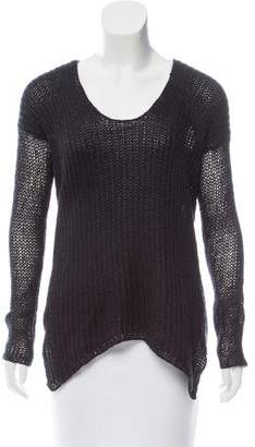 Helmut Lang HELMUT Scoop Neck Long Sleeve Sweater