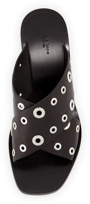 Rag & Bone Paige Crisscross Slide Sandals, Black