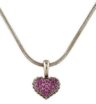 Lagos Pink Sapphire Pendant Necklace
