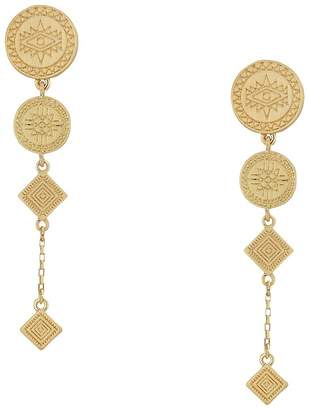 Rebecca Minkoff Etched Coin Statement Earrings Earring