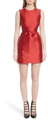 RED Valentino Stripe Twill Fit & Flare Dress