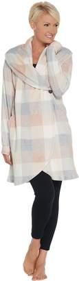 Cuddl Duds Fleecewear Stretch Shawl Collar Cardi Wrap