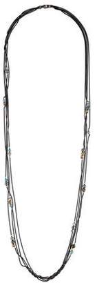 David Yurman Long Topaz & Hematite Multistrand Necklace