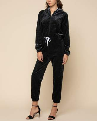 Juicy Couture Metallic Velour Jumpsuit