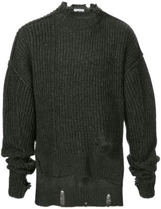Ambush distressed ribbed jumper