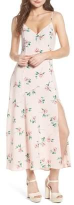 Lush V-Neck Midi Dress