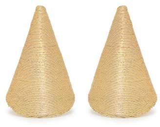 Rebecca De Ravenel - Aida Triangle Cord Earrings - Womens - Gold