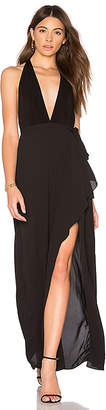 BCBGMAXAZRIA Deep V Gown in Black $298 thestylecure.com