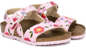 Birkenstock Kids floral flat sandals