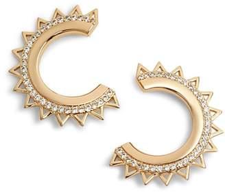 MELANIE AULD Triangle Spike Hoop Earrings