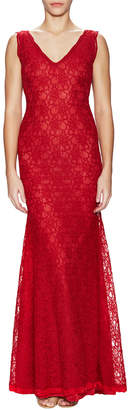 A.N.A Maria Beatrice Lace Scalloped Gown