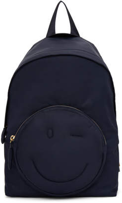 Anya Hindmarch Navy Chubby Wink Backpack