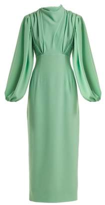 Emilia Wickstead Niamh Stretch Crepe Pencil Dress - Womens - Light Green