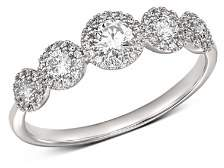 Bloomingdale's Diamond Five Stone Pavé Detail Band in 14K White Gold, 0.50 ct. t.w. - 100% Exclusive