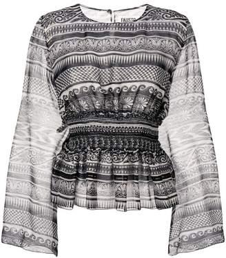 Fausto Puglisi geometric pattern blouse