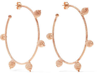 Carolina Bucci Florentine 18-karat Rose Gold Hoop Earrings