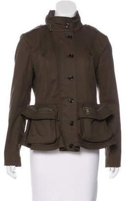 Burberry Long Sleeve Peplum Jacket