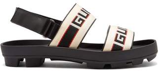 Gucci - Stripe Logo Sandals - Mens - Black Multi