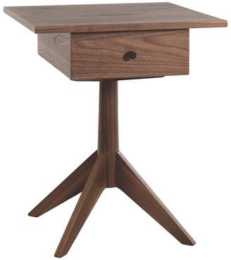 9b000b57a4ef Jerome Walnut 1 drawer bedside table