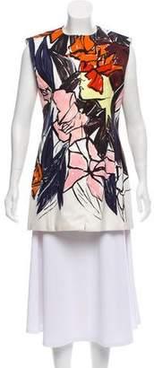 Christian Dior Printed Silk Vest