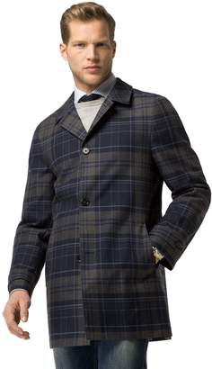 Tommy Hilfiger Plaid Trench Coat