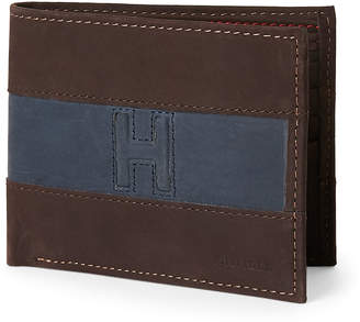 Tommy Hilfiger Navy & Brown Reading Passcase Wallet