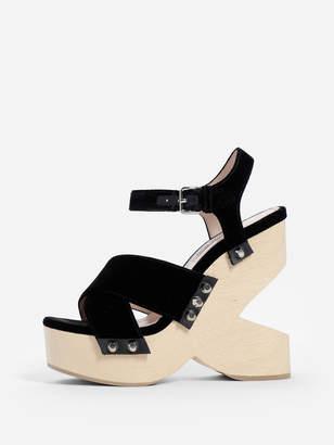 0ac47dda9a8 Womens Black Wedge Sandals - ShopStyle UK