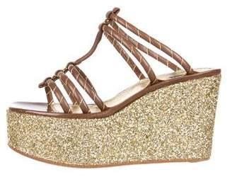 Marc Jacobs Glitter Wedge Sandals