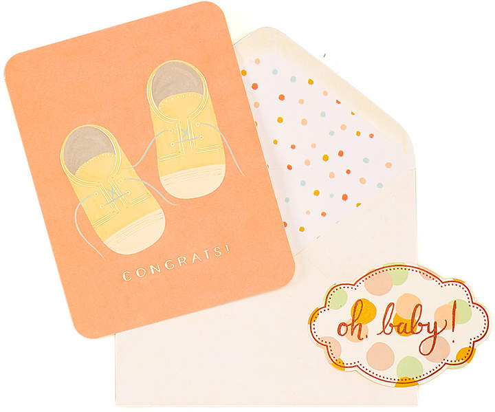 Baby Shoes New Baby Card