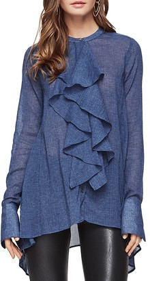 BCBGMAXAZRIA Imogene Ruffle Shirt $198 thestylecure.com