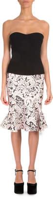 Mary Katrantzou Strapless Printed-Skirt Combo Dress