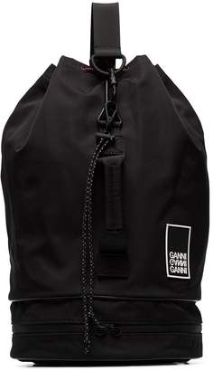 Ganni triple-strap drawstring backpack