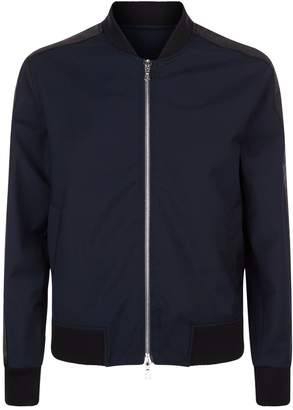 Officine Generale Grosgrain Stripe Bomber Jacket