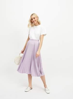 cb0d0da273bc Miss Selfridge Lilac Pleated Skirt