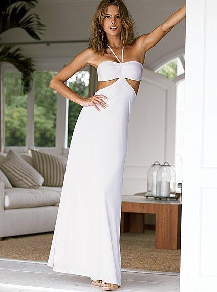 Halter tie maxi dress